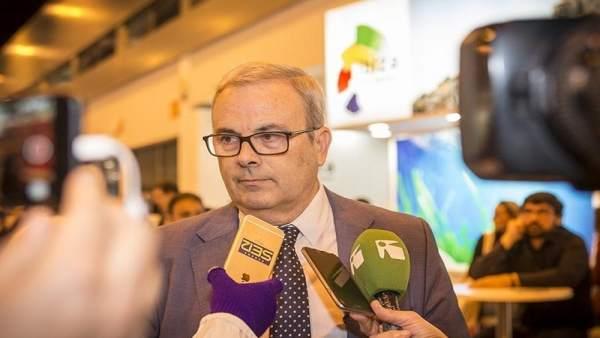 El presidente del Consell de Ibiza, Vicent Torres, en Fitur
