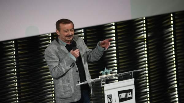 El actor Juan Diego recoge un premio del Ayuntamiento de Madrid