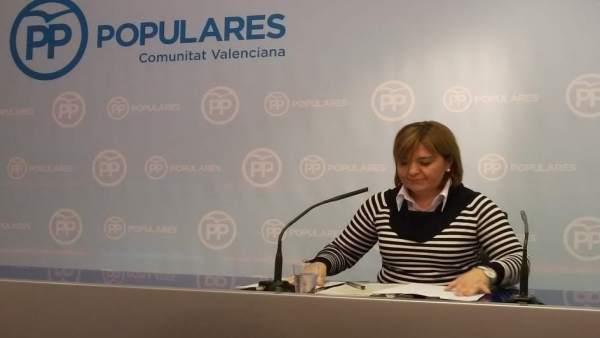 Isabel Bonig, en rueda de prensa