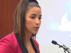 Aly Raisman, durante la declaración