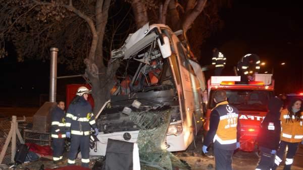 Accidente de autobus en Turquía