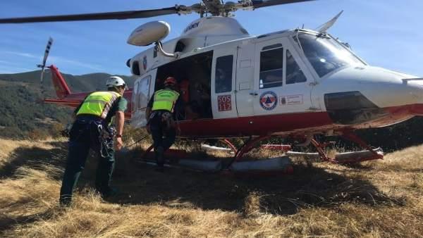 Helicóptero 112 Gobierno de Cantabria