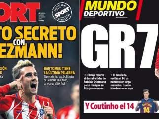 """El FC Barcelona niega contactos con Griezmann y reitera su """"respeto"""" por el Atlético"""