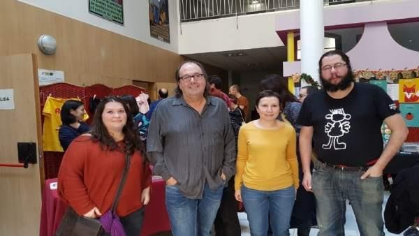Del Fueyo junto con otros integrantes de XsP.