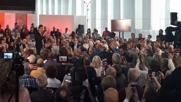 Pedro Sánchez en la Asamblea Abierta a la ciudadanía