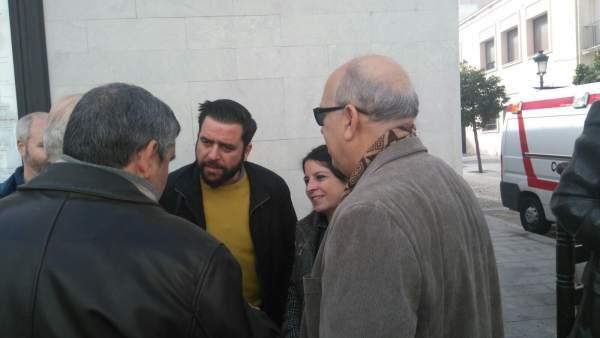 La vicesecretaria general del PSOE, Adriana Lastra en un acto en Cádiz