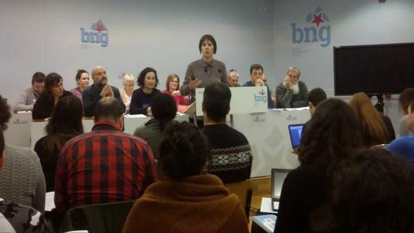 Ana Pontón en el Consello del BNG