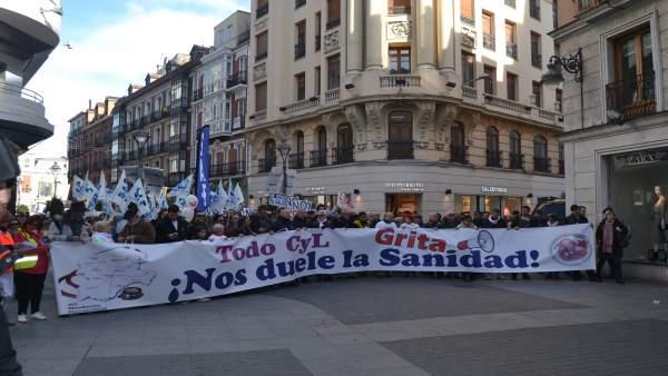 Valladolid.- Manifestación en defensa de la Sanidad pública