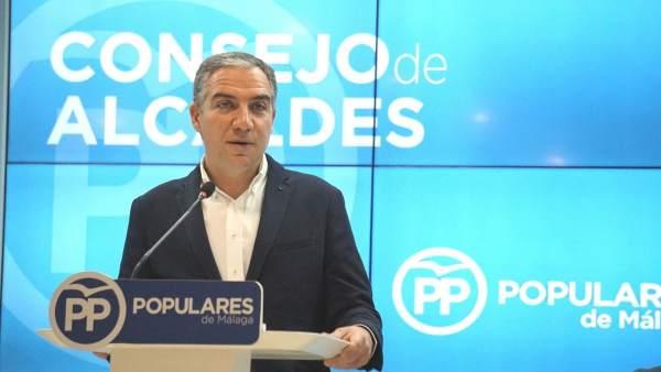 Elias Bendodo presidente del PP de Málaga
