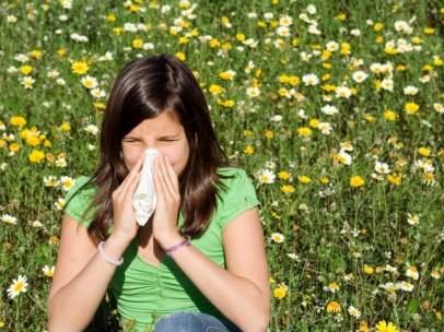 Alergia al polen.