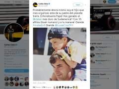 """Carlos Sainz hijo felicita a su padre: """"Soy el hijo más orgulloso del planeta tierra"""""""