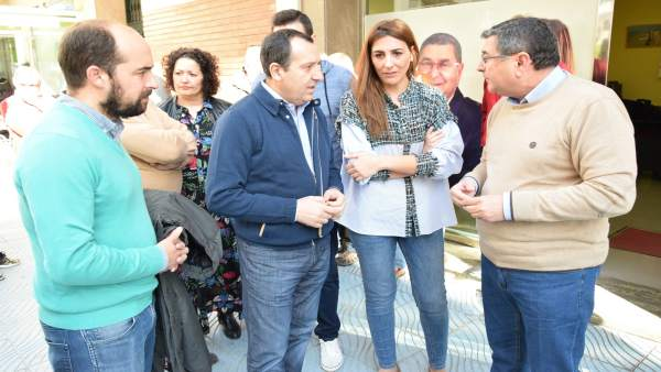 Ruiz Espejo PSOe Málaga en velez renta mínima con zoila martín y alcalde Moreno