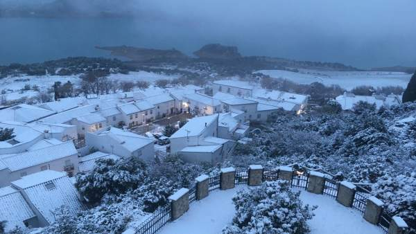 Zahara de la Sierra nevada