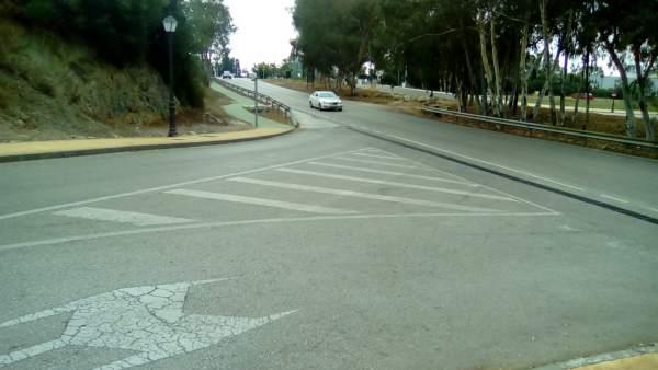 TRamo de carretera en Málaga