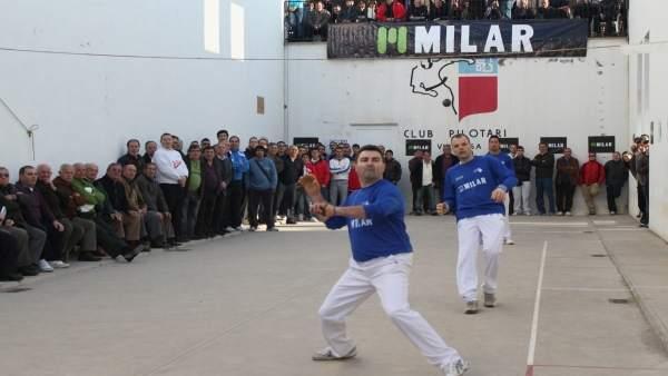 Imagen de una partida de pilota valenciana