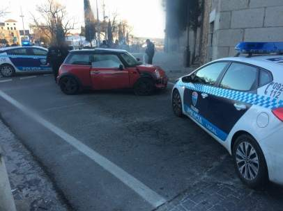 Accidente en la Puerta de Bisagra