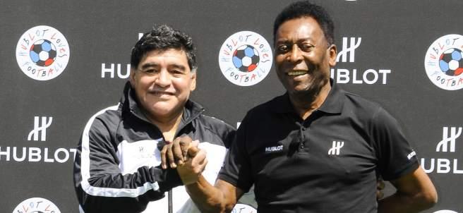 Maradona y Pelé