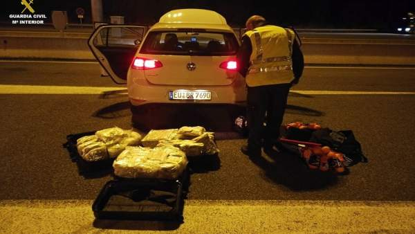 La Guardia Civil incauta marihuana en Girona