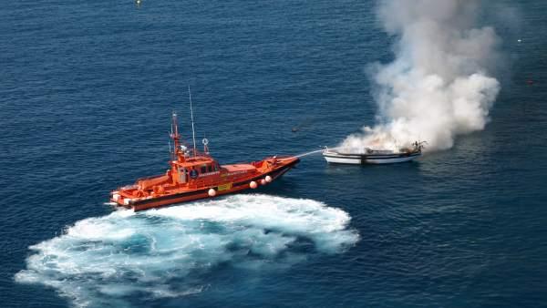 Emergencia atendida por Salvamento Marítimo en 2013.