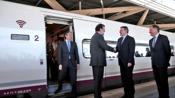 Rajoy, en la inauguración del AVE a Castellón
