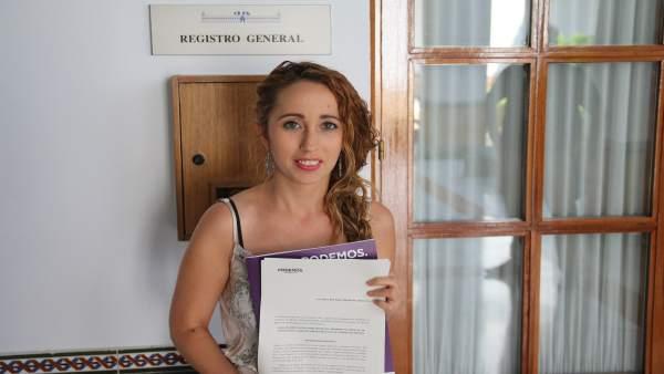Mercedes Barranco, en el Parlamento