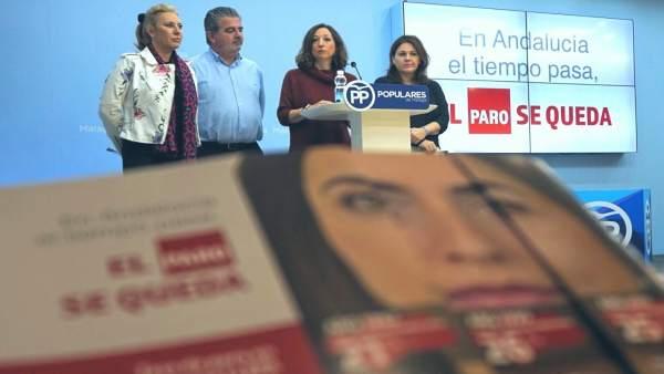 Presentación campaña empleo PP contra PSOE andalucía navarro