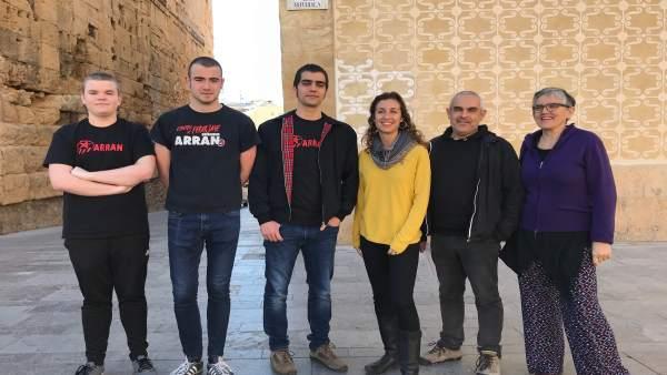 Concejales de la CUP en Tarragona y miembros de Arran