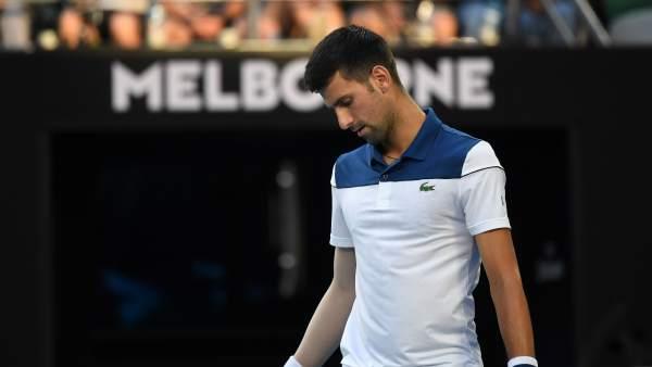 Novak Djokovic se lamenta