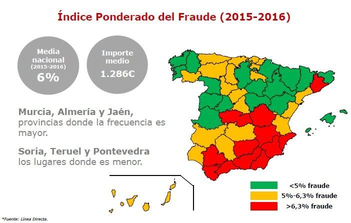 Mapa del fraude en España