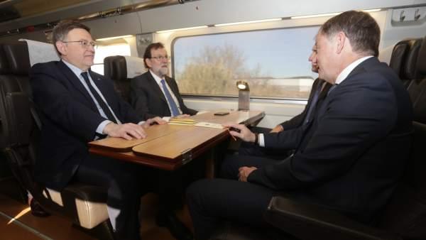 Viaje inaugural del AVE a Castellón