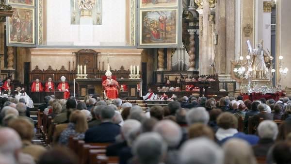 Misa con motivo de la festividad de San Vicente Mártir
