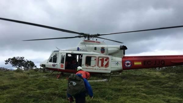 Helicóptero del Gobierno de Cantabria