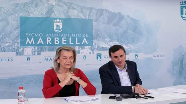 Francisca Caracuel y Félix Romero. Marbella