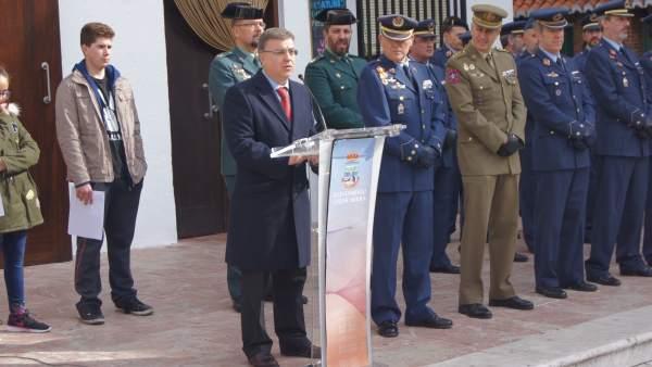 El subdelegado del Gobierno, Francisco Fuentes, en el homenaje a Domingo Puente