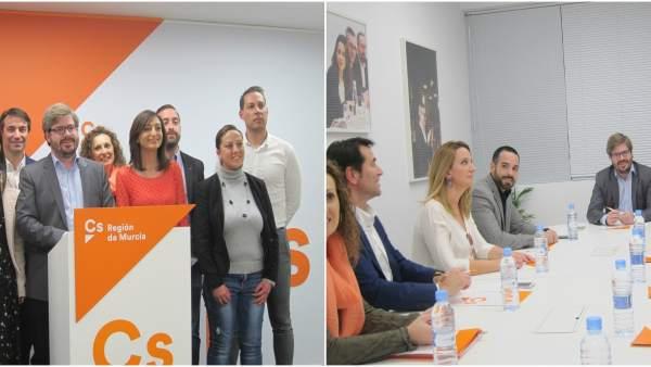 Hervías, durante su reunión en Murcia