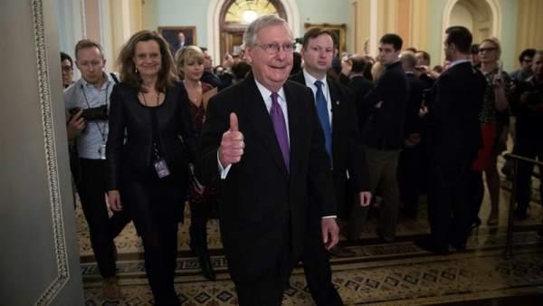 Mitch McConnell, senador republicano de EE UU