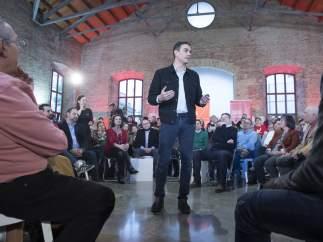 Pedro Sánchez, secretario general del PSOE, el pasado sábado en un acto en Valencia.