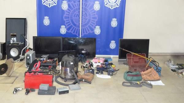 Elementos intervenidos al grupo criminal detenido