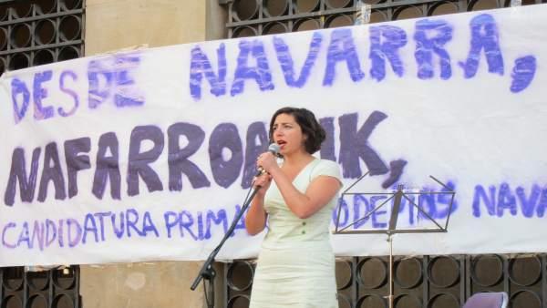Laura Pérez, parlamentaria de Podemos Navarra