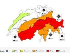 Alto riesgo de avalancha en los Alpes suizos
