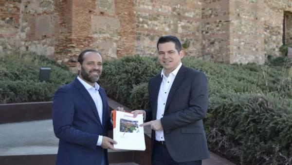Juan Cassá y Alejandro Carballo en la Alcazaba
