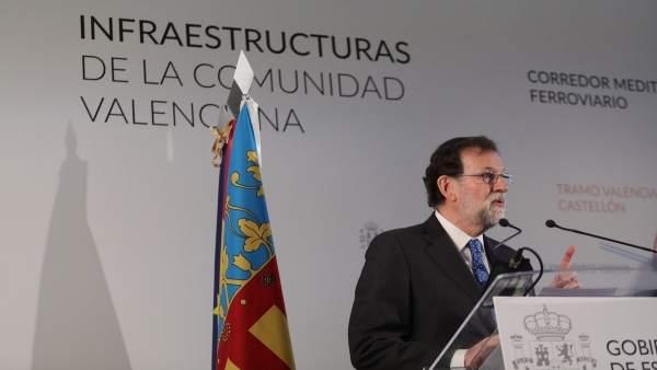 Rajoy preside la puesta en servicio del AVE Valencia-Castellón