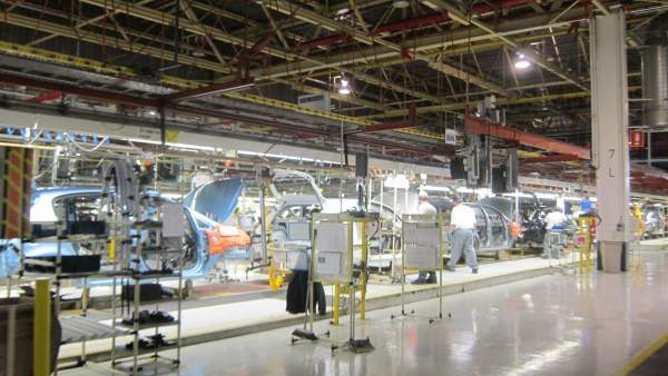 Fabrica de Opel en Figueruelas (Zaragoza).