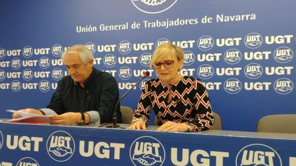 Jesús Santos y Marisol Vicente presentan el balance de negociación colectiva.