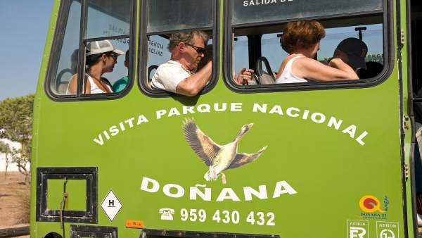 Turistas en Doñana.