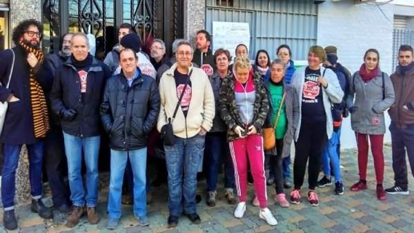 Miembros de la Plataforma 'STOP Desahucios'