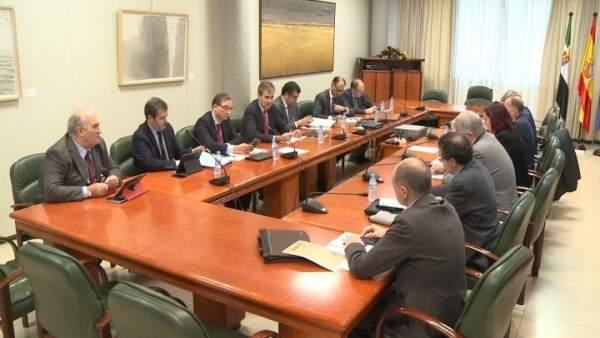 Reunión consejera García Bernal y presidente de Renfe