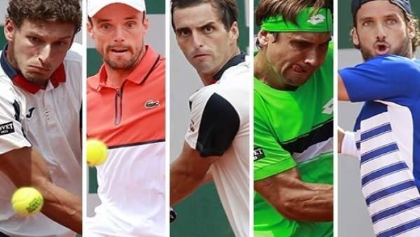 Carreño, Bautista, Ramos, Feliciano y Ferrer, equipo de Davis ante Gran Bretaña