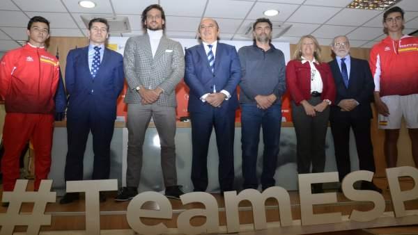 Sergi Bruguera y Feliciano López presentan el equipo de Copa Davis