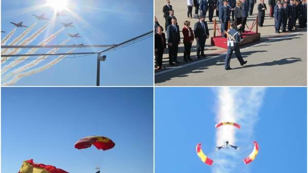 Collage Acto 70 aniversario 1º lanzamiento paracaidista con Cospedal